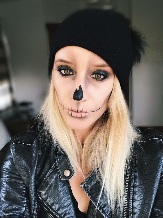 Not yo mama skeleton halloween makeup